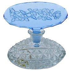 Antique Original Czech Morlee Crystal Perfume Scent Bottle, Dauber