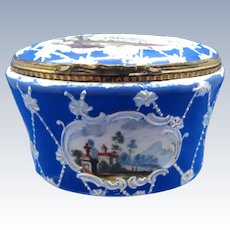 Antique BEST On RL, Battersea Enamel Box with 5 Scenes, Excellent Condition WOW