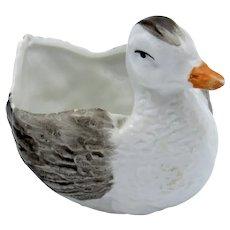 Unique and Cute! Little Porcelain Duck Shaped Open Salt