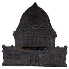Antique Columbian Exposition Magic Savings Bank, 1892