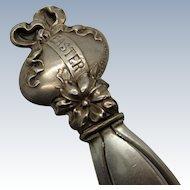 Antique Sterling Easter Egg Bookmark, Bookmark, Ribbon, Egg, Easter