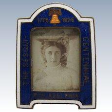 Antique Rare, Enamel 1776-1926 The Sesqui-Centennial Picture Photo Frame, Mini