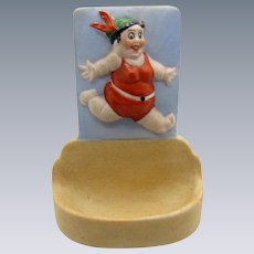 Antique Schafer and Vater Bathing Beauty Vase and Tray, Dresser Item