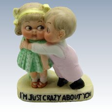Vintage Schafer and Vater Young Couple, I'm Just Crazy About You Figure