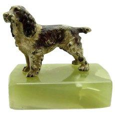 Antique Vienna Bronze Springer Spaniel Dog, Austrian, Cold Painted