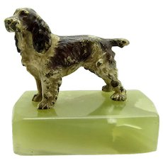 Antique Vienna Bronze Springer Spaniel Dog, Austrian, Cold Painted