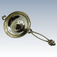 Antique Very Unique and RARE Tea Ball Strainer, Combination, STERLING