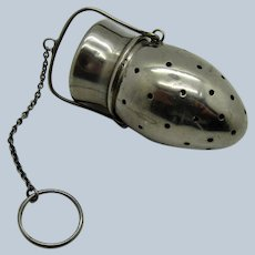 Vintage Sterling Tea Ball Strainer on a Bale, Swinging Style