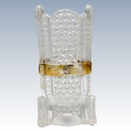 Antique Early American Pattern Glass Toothbrush Holder, Toothbrush Feet