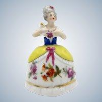 Antique Goebel Lady Figure Crown Top Type Perfume Scent Bottle
