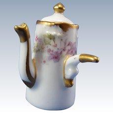 Vintage Limoges Elite Works, France, Miniature Porcelain Chocolate Pot
