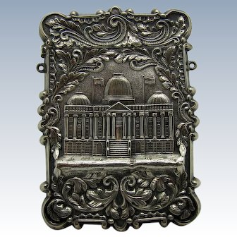Antique Leonard & Wilson Double Sided Calling Card Case, Capitol and Trinity Church