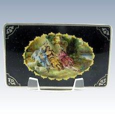 Antique Austrian Sterling Square Compact Rouge & Powder, All Original, RARE