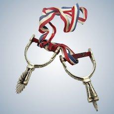 Antique Silver Miniature Spurs, Award