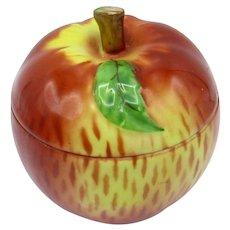 Antique Czech Porcelain Apple Jar, Sugar Bowl