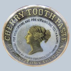 Antique Cherry Toothpaste Patronized By the Queen Jar