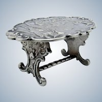 Antique AMAZING Sterling Miniature Table, Tavern Scene, Hanau