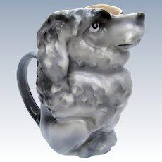 Antique Royal Bayreuth Gray Poodle Creamer