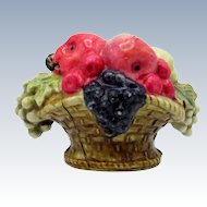 Antique Celluloid Basket of Fruit with Lady Bug Tape Measure