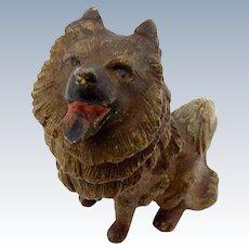 Antique Cold Painted Vienna Bronze Dog Bronze, Made in Austria