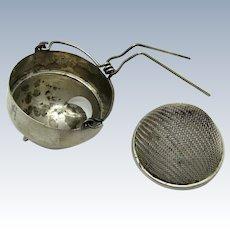 Antique Teapot Teastrainer Tea Strainer, Removable Screen