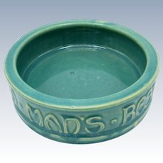 Antique McCoy Pottery Dog Dish, Man's Best Friend, His Dog, Original