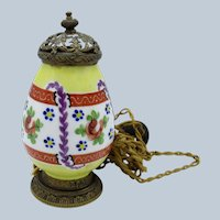 Antique French Porcelain Perfume Lamp, All Original