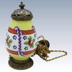 Antique French Porcelain Perfume Lamp, All Original