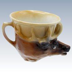 Antique Royal Bayreuth Elk Stirrup Cup