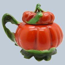 Antique Royal Bayreuth Handled Mustard Jar Tomato Shape