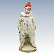 Antique Heubach Clown Bisque Figure