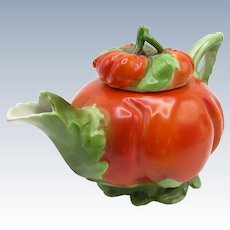Vintage Royal Bayreuth Tomato Teapot, Great Shape and Size