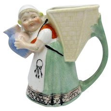 Antique Schafer and Vater Milkmaid Creamer Pitcher, Germany