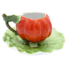 Antique Royal Bayreuth Tomato Demi Cup and Saucer