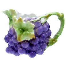 Antique Royal Bayreuth Milk Size Purple Grapes Creamer