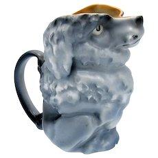 Antique Royal Bayreuth Sweet Gray Poodle Dog