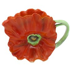 Antique RED Poppy Creamer, Royal Bayreuth
