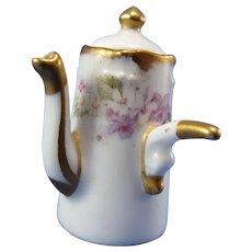 Antique Elite Works, Limoges France Miniature Porcelain Chocolate Pot