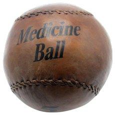 Antique 5 Kilo Medicine Ball, Leather