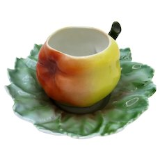 Antique Royal Bayreuth APPLE Demi Cup and Saucer