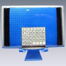 Antique Sterling and Enamel SUPER RARE PERPETUAL Calendar Box, AMAZING!