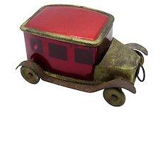 Antique RARE, RED Automobile, Car Shaped Tape Measure