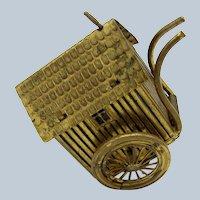 Antique RARE Brass Bathing House Tape Measure