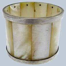 Antique Mother of Pearl and Silver Napkin Ring