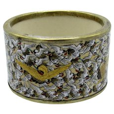 Antique Japanese Satsuma Thousand Cranes Napkin Ring
