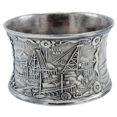 Antique Silver Butte Montana, Advertising Mines, Napkin Ring