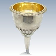 Antique Georgian Sterling Silver Wine Funnel, London C-1807-08