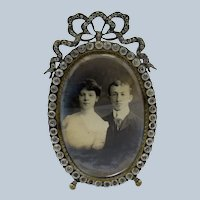 Antique and Original Soft Paste Picture Photo Frame Hinged Door, C-1890-1900