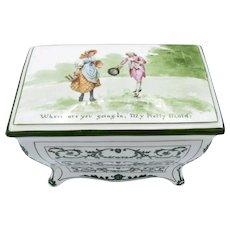 Antique Royal Doulton Huntley & Palmers Bisquits C-1905 Dresser Shape, Porcelain