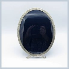 Antique Large Sterling Oval Picture Photo Frame with Engraving